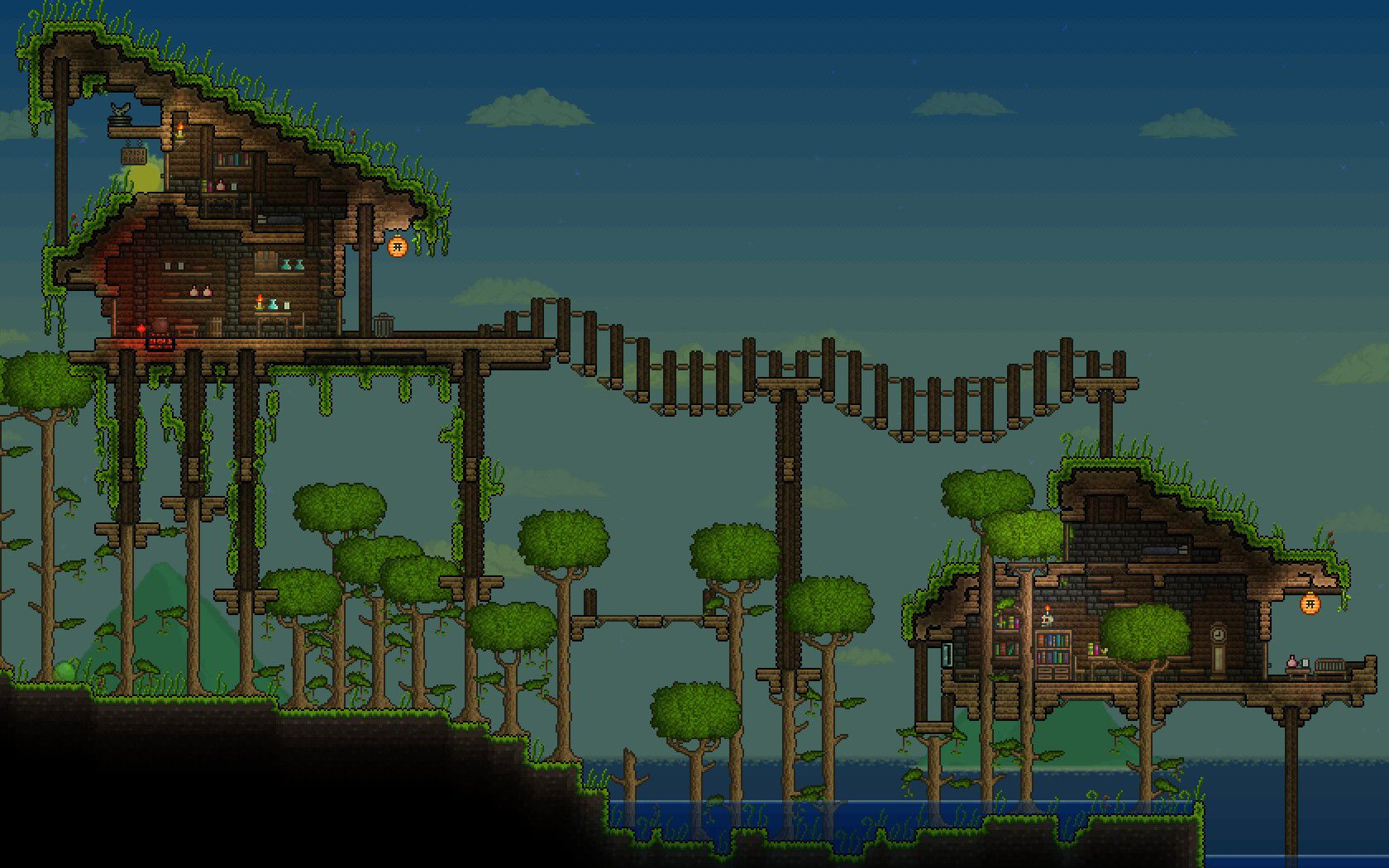 Terraria house ideas open jungle base