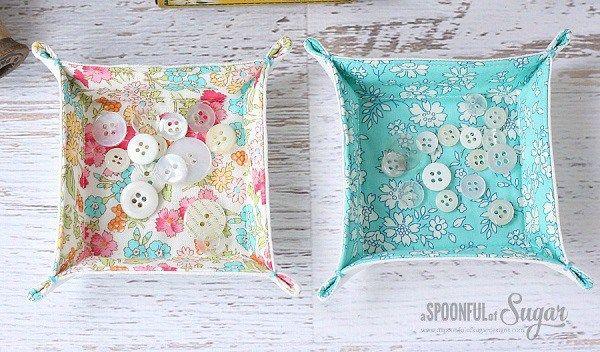Tutorial: Charm square or scrap fabric tray #scrapfabric