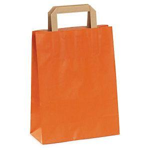 10a1c1b88 Bolsa de kraft en color con asas planas Rajashop | Naranja ...
