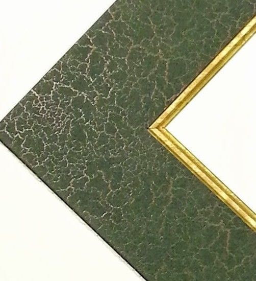 5 Pack 11x14 Precut Picture Frame Mat Green Gold Crackle Gold Fillet Crescentberkshire Picture Frame Mat Frame Matting Picture Frames