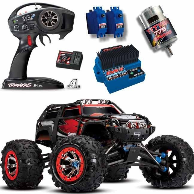 Traxxas 56076 4 1 10 4wd Summit 4wd Monster Truck Red W Tqi Radio