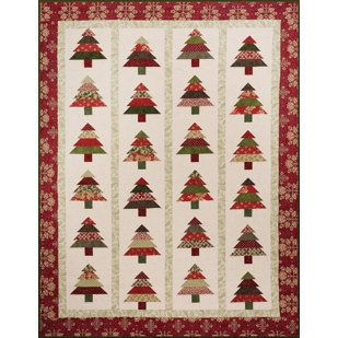 christmas tree quilt pattern   Quilt, Table Runner, Pattern, Tree Lot by Cozy Quilt Designs on Wanelo