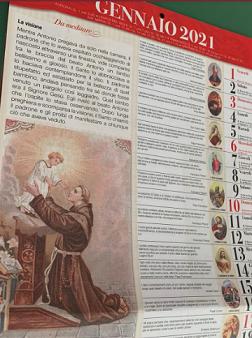 Campione gratuito Calendario Il Pane di Sant'Antonio