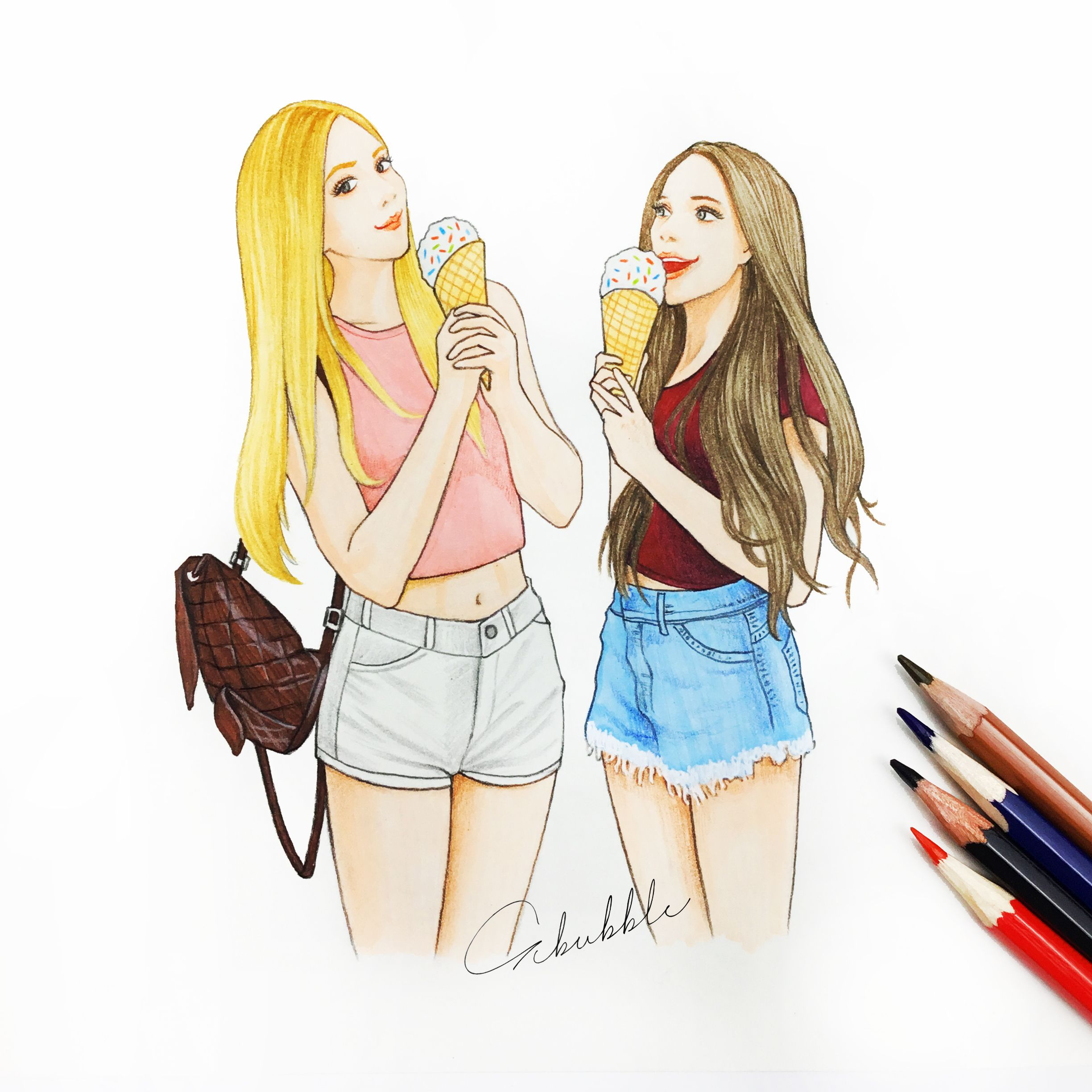Girl Bff Drawing Pics Draw Bff And Girls - Youtube ...   Best friend drawings, Drawings of ...