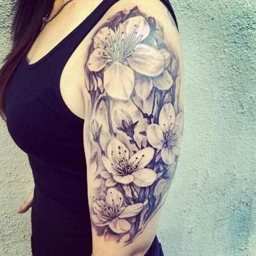 18 Amazing Leo Sleeve Tattoos: 18 Amazing Half Sleeve Tattoos For Girls (2)