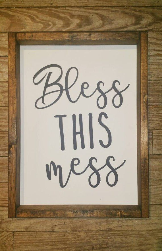 Bless This Mess, Farmhouse Decor, Kids Room Signs, Messy Room Sign, Kids  Are Playing Here, Joanna G
