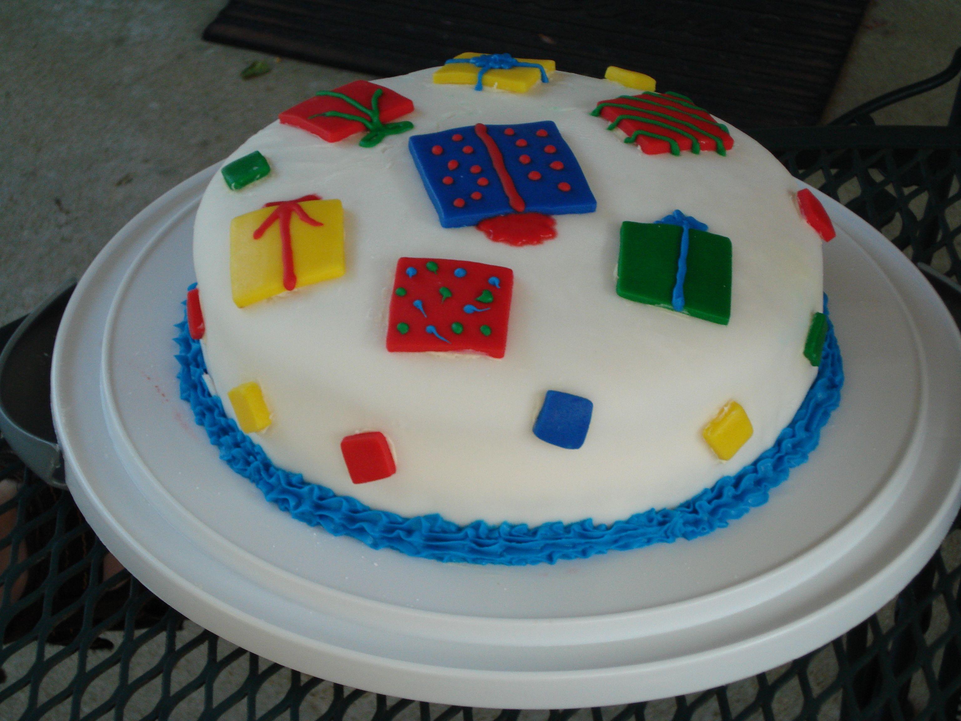 Easy Fondant Birthday Cake Great For A Beginner