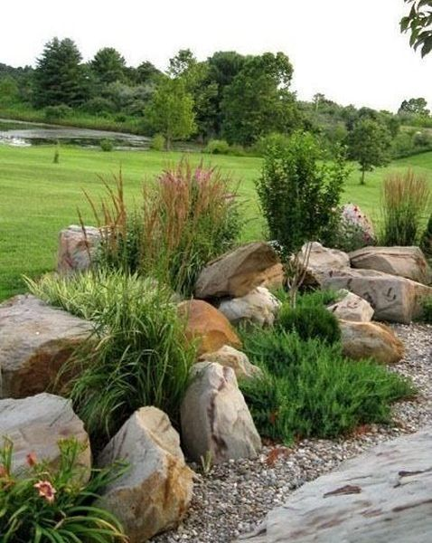 30+ #Delicate #Garden #Landscaping #Design #Ideas #Using #Rocks #Stone #To #Try