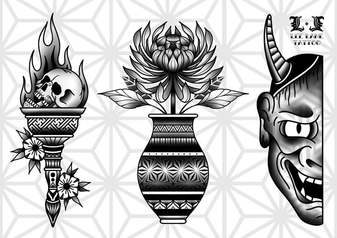 New stuff! #flash #tattooflash #trflash #traditionalflash #tattoos #tattooart #tattoodesign #geometry #geometric #pattern #blacktraditional #blackwork #blackworkers #blackworkerssubmission #blackworktattoo #blackworker #tradworkers #tradwork #traditionalkings #skull #hanya #chrysanthemum #flower #vase #tattoo #digitalart #blackink #blxckink #blackworkers_tattoo #ink