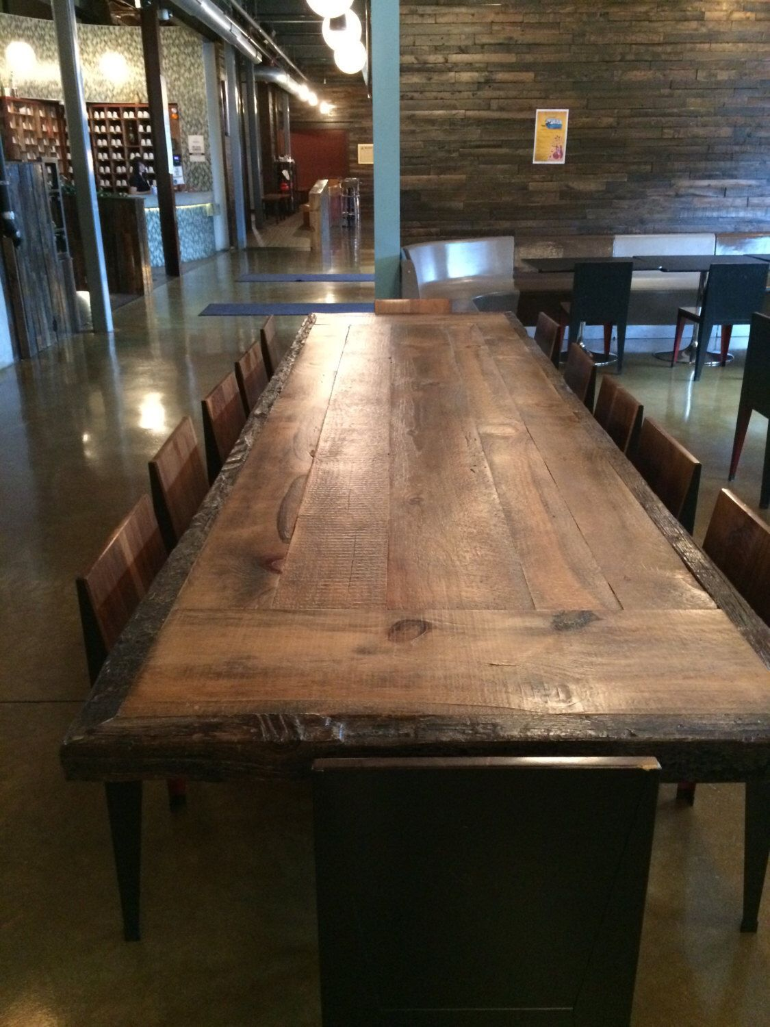 Pin By Taya Marie Richards On Household Reclaimed Wood Dining Table Wood Dining Room Table Slab Dining Tables
