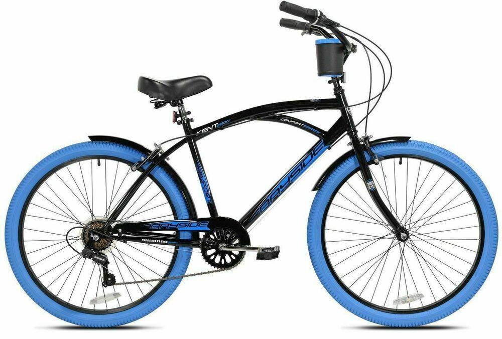 Sponsored Ebay Kent Cruiser Bike Men 26 Black Comfort Beach City Commuter Bicycle Shimano New Shimano Bike Cruiser Bike