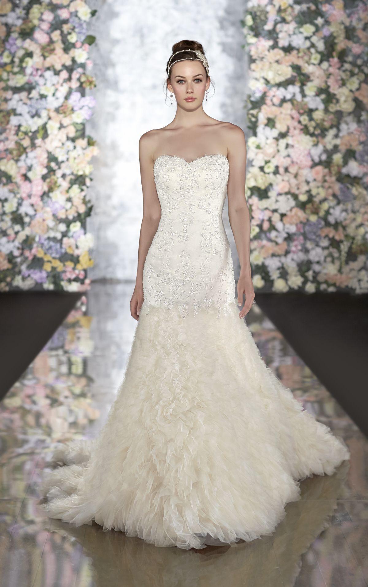 Strapless fitted lace wedding dresses  DMZP by  Wedding Atelier MadamPaloozaEmporium