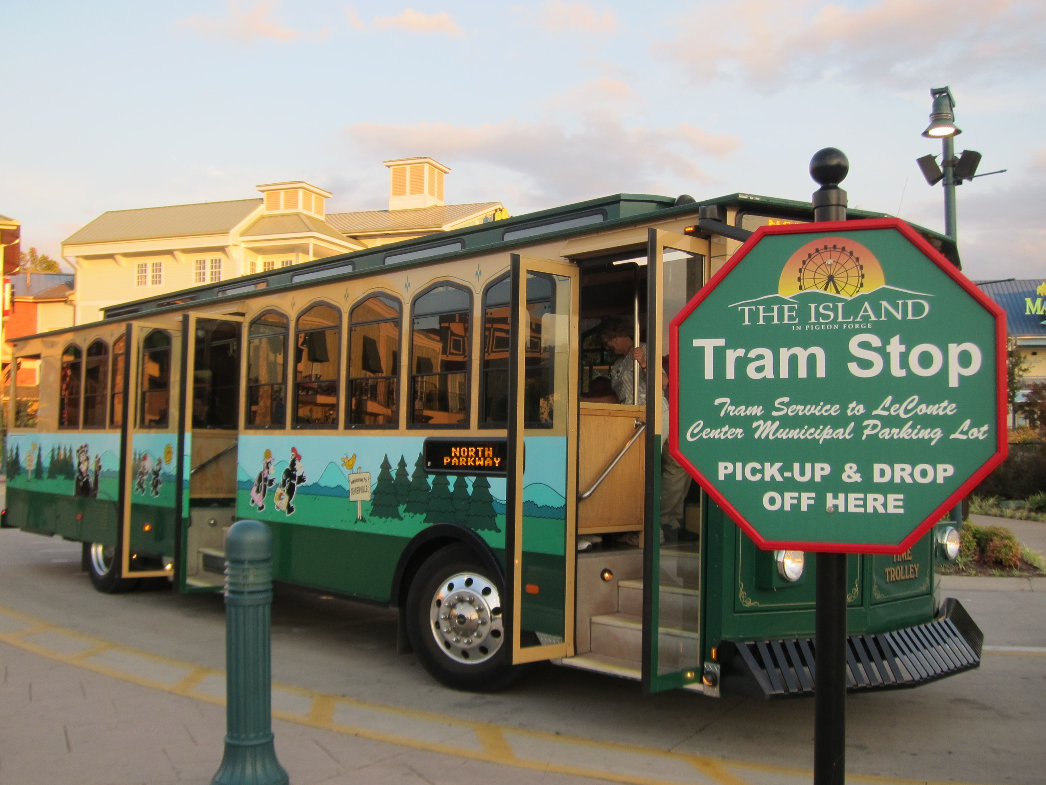 Image result for pigeon forge trolley