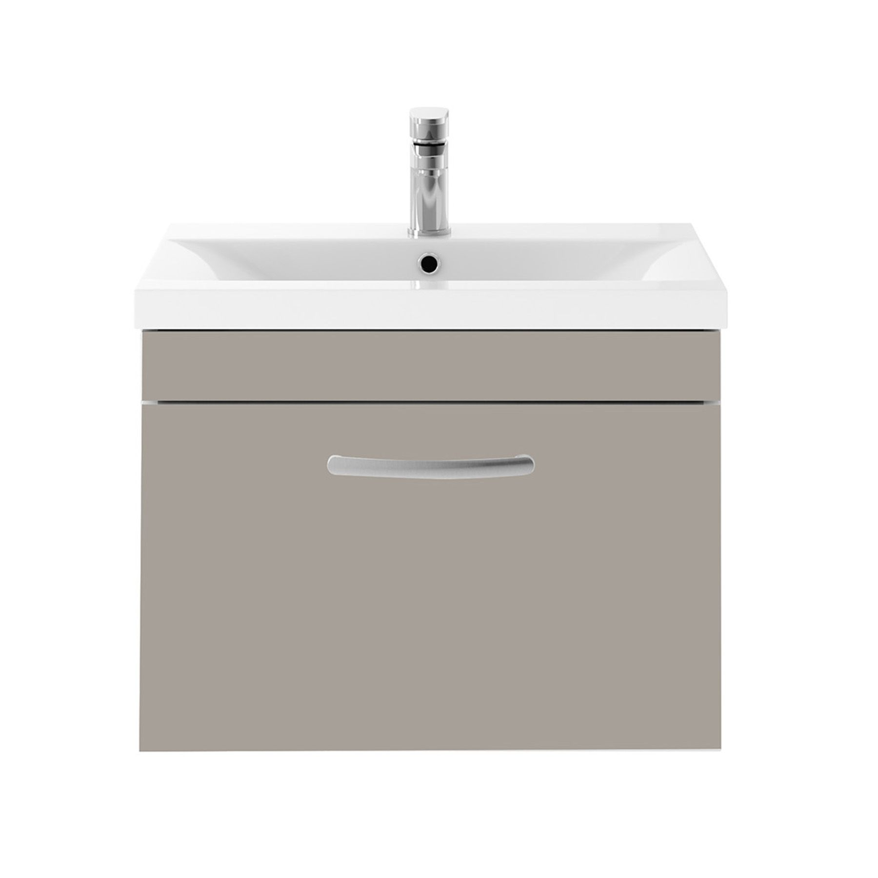 Premier Athena 600mm Stone Grey Wall Hung Vanity Unit With Minimalist Basin Cabinet In 2020 Wall Hung Vanity Grey Walls Vanity Units