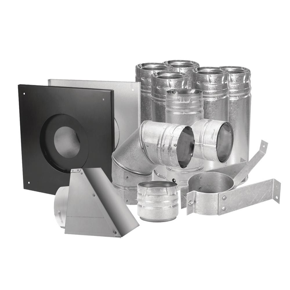 DuraVent PelletVent 3 in. Stove Pipe Kit | Stove, Pipes and Stove vent