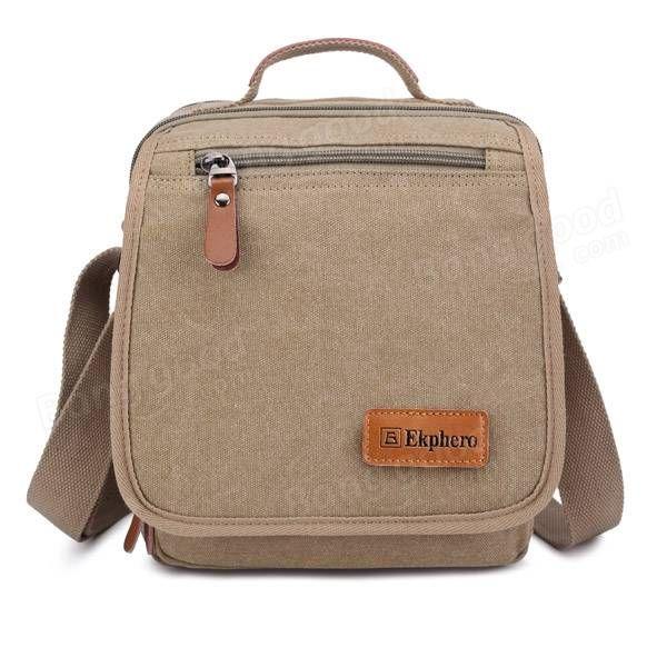 Ekphero® Multifunctional Casual Leather Cotton Canvas IPad Shoulder  Crossboby Bag. Crossbody BagsTote ... df6cda124aa9d