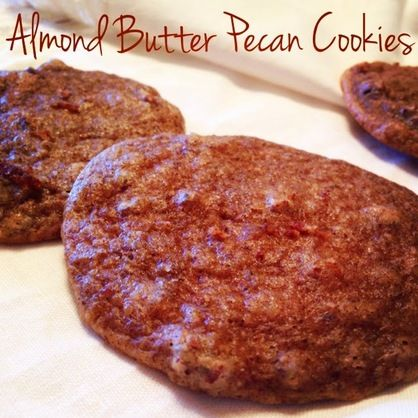 Healthy Almond Butter Pecan Cookies. No butter, oil, or sugar. They're gluten-free too!