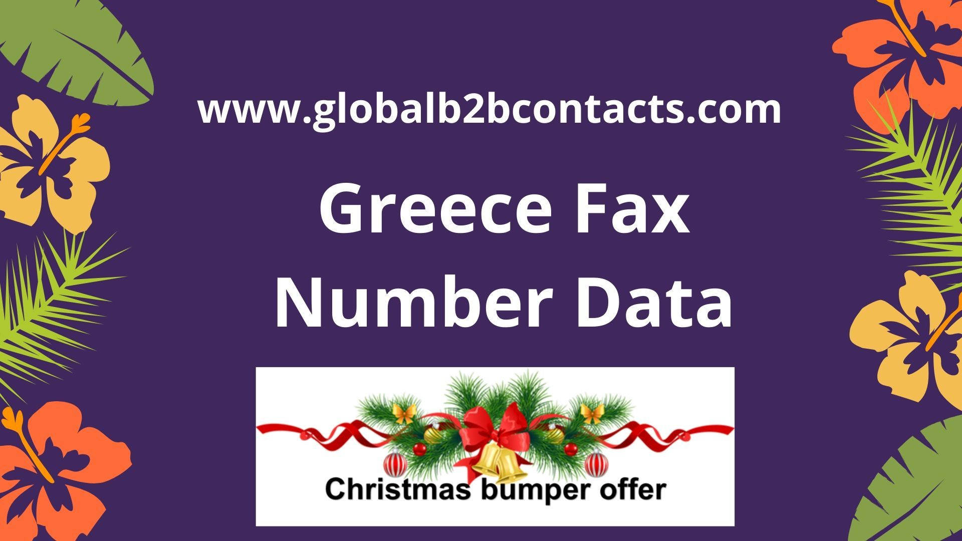 Greece Fax Number Data Fax number, Data, Fax
