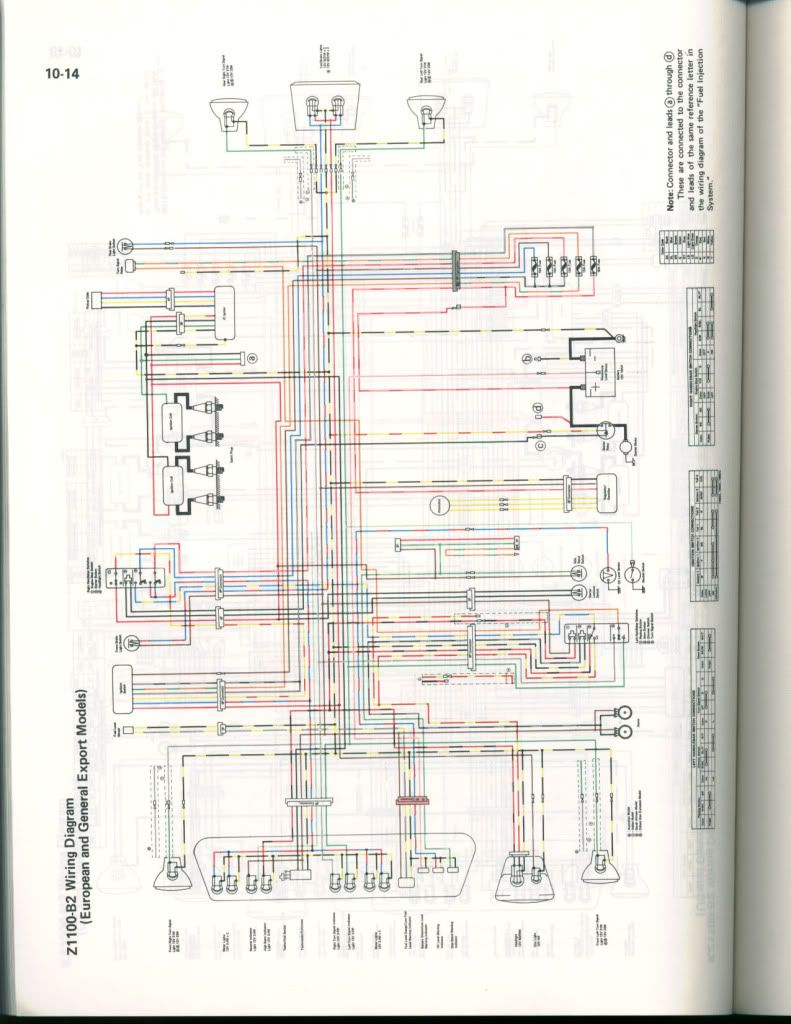 Kawasaki Z 1100 Wiring Diagram Another Blog About 13 A Is Detailed Of Each Kzr Forum Topic Gpz1100 B2 1983 Rh Pinterest Com