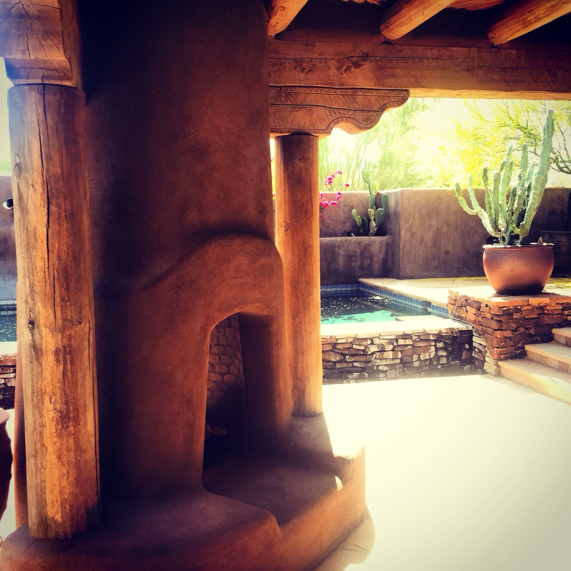Outdoor Kiva Fireplace Outdoor Fireplace Southwest Style Santa Fe Style
