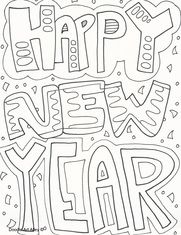 New Years New Year Coloring Pages New Year S Crafts Coloring Pages For Kids
