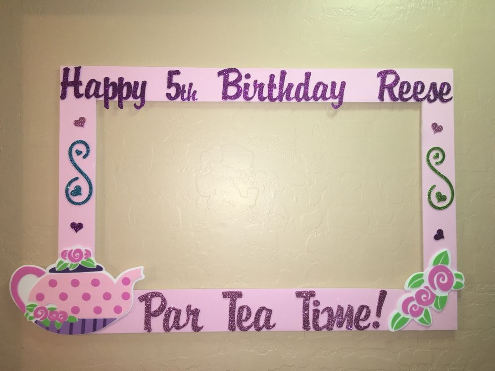Photo Booth Frame to Take Pictures Tea Party Birthday | eBay | photo ...