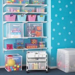 The Container Store White elfa Toy Storage Get Organized