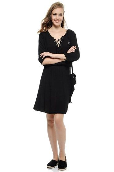 Elbise Modelleri Oxxo The Dress Siyah Kisa Elbise Giyim
