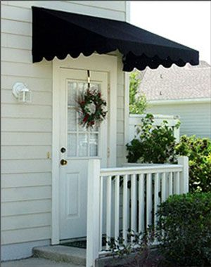 Canvas Door Awnings High Quality Made With Sunbrella Fabric