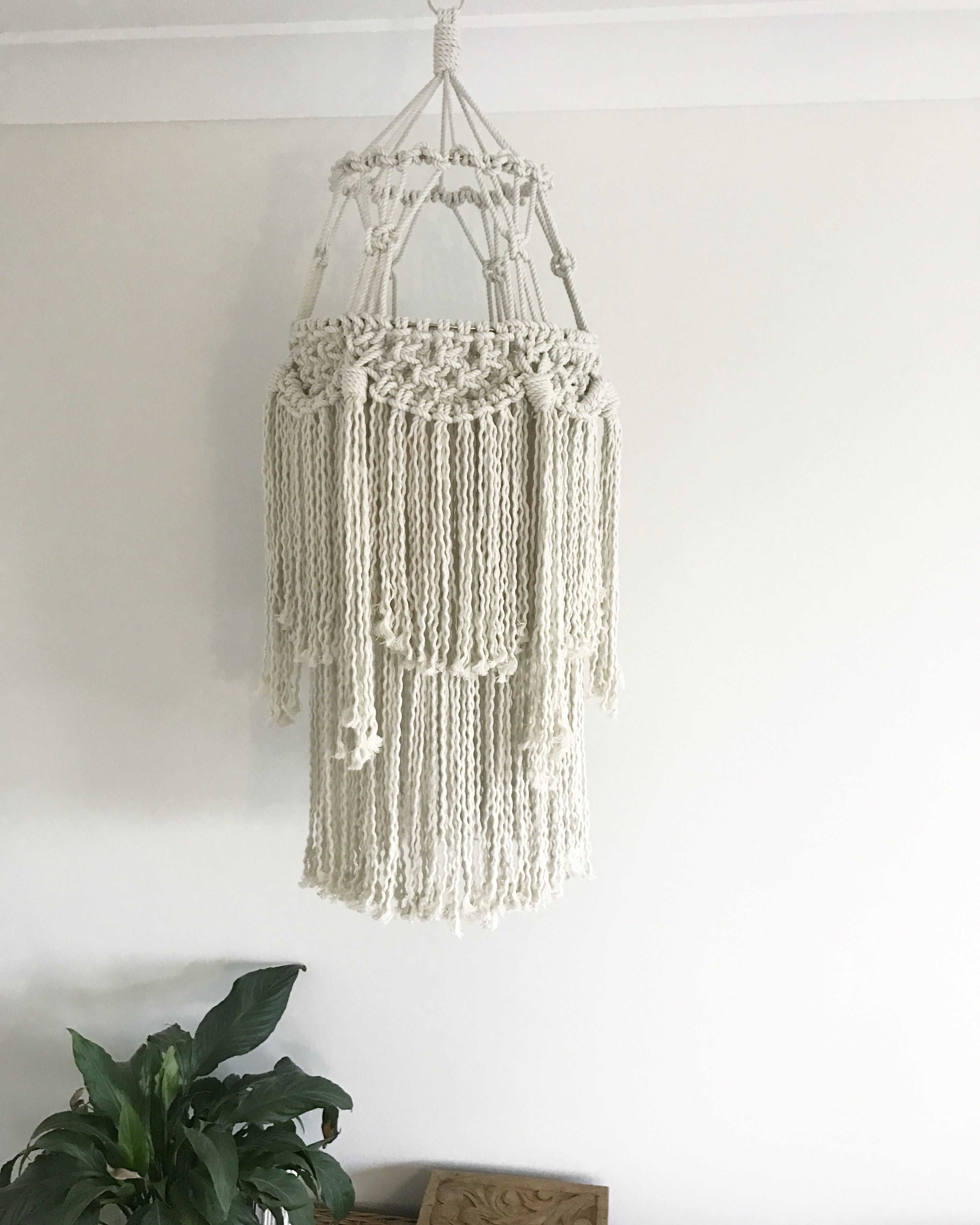 large macrame wall hanging bedroom nursery decor boho macrame chandelier baby mobile nursery wall hanging