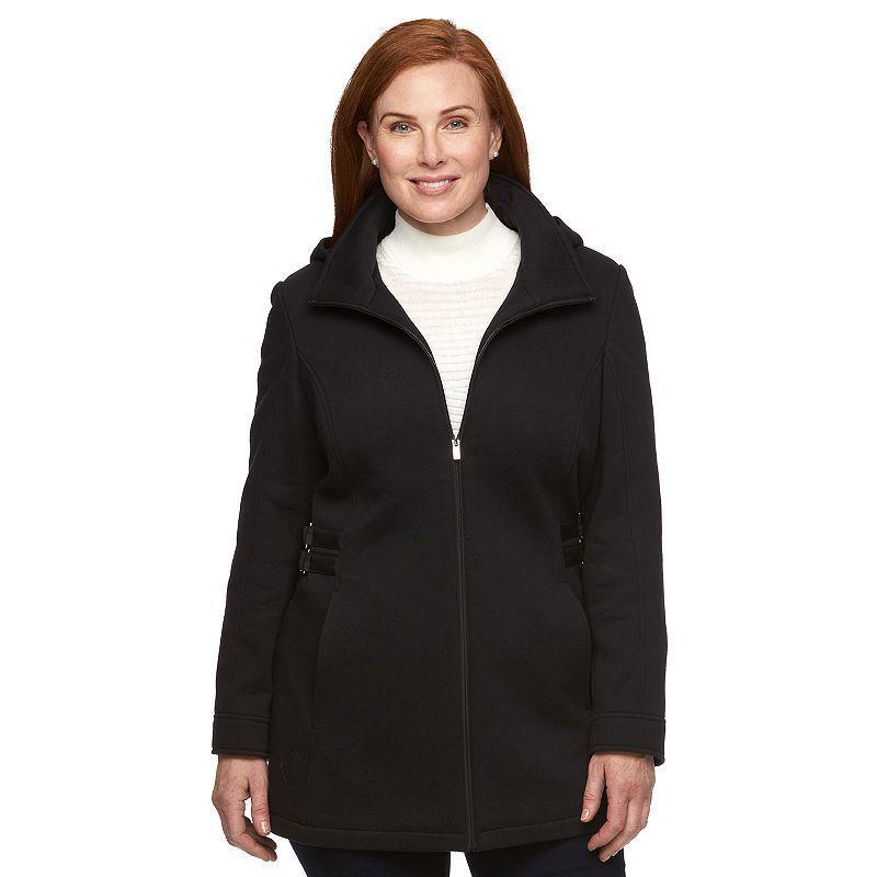 Plus Size Croft & Barrow® Hooded Buckle Fleece Jacket, Women's, Size: