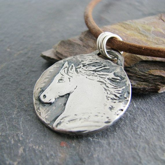 Artisan Handmade Fine Silver Horse Pendant by SilverWishes on Etsy