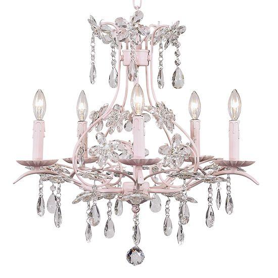 Shabby Chic CInderella Pink Chandelier [JB-7106] - $514.00 : The ...