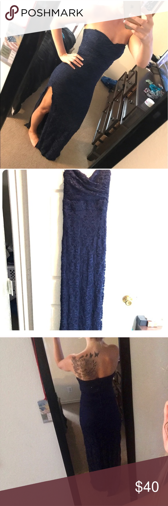 Sparkly blue formal dress long blue formal dresses sorority