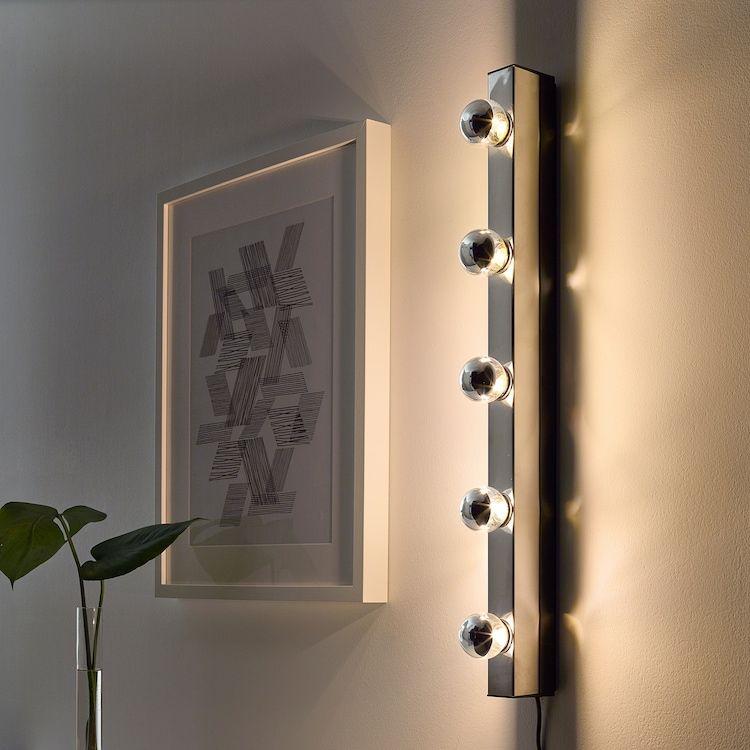 Musik Wall Lamp Chrome Plated In 2020 Bulb Clear Light Bulbs Ikea