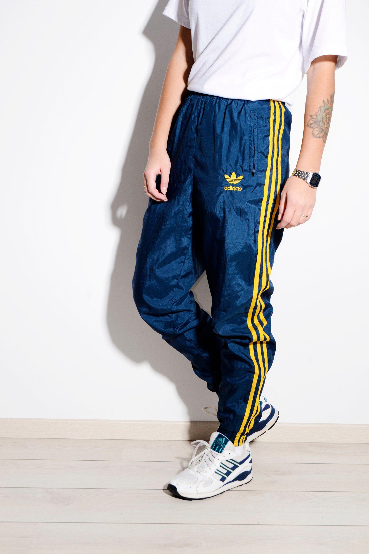 Vintage adidas '90s Light Blue Tearaway Track Pant | Urban