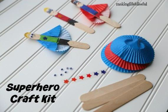 DIY Super héros Craft Kit pour les enfants (lot de 3) #superherocrafts