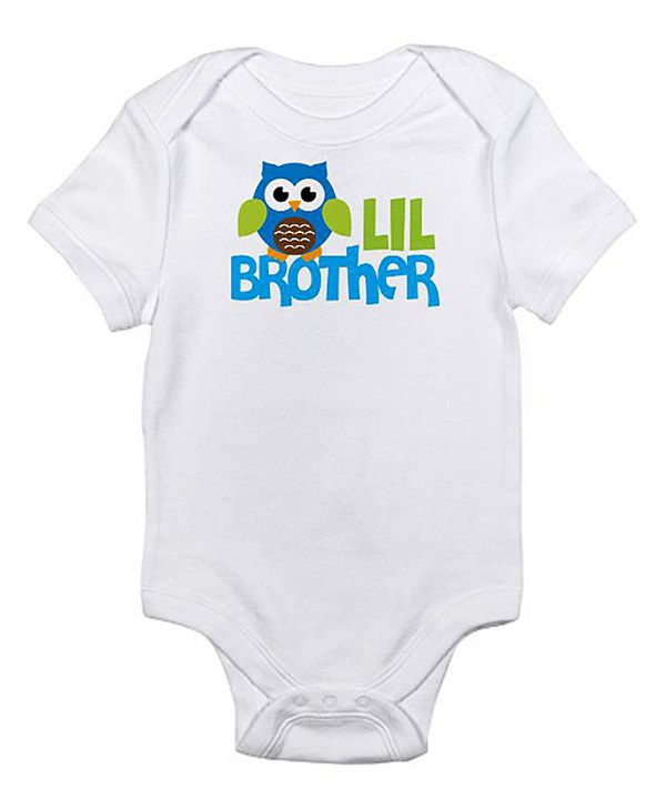 Take a look at this White 'Lil Brother' Bodysuit - Infant on zulily today!