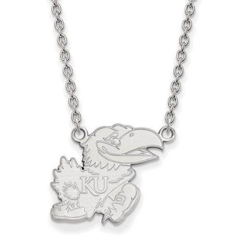 University of kansas jayhawks large pendant necklace in sterling university of kansas jayhawks large sterling silver mascot pendant necklace aloadofball Image collections