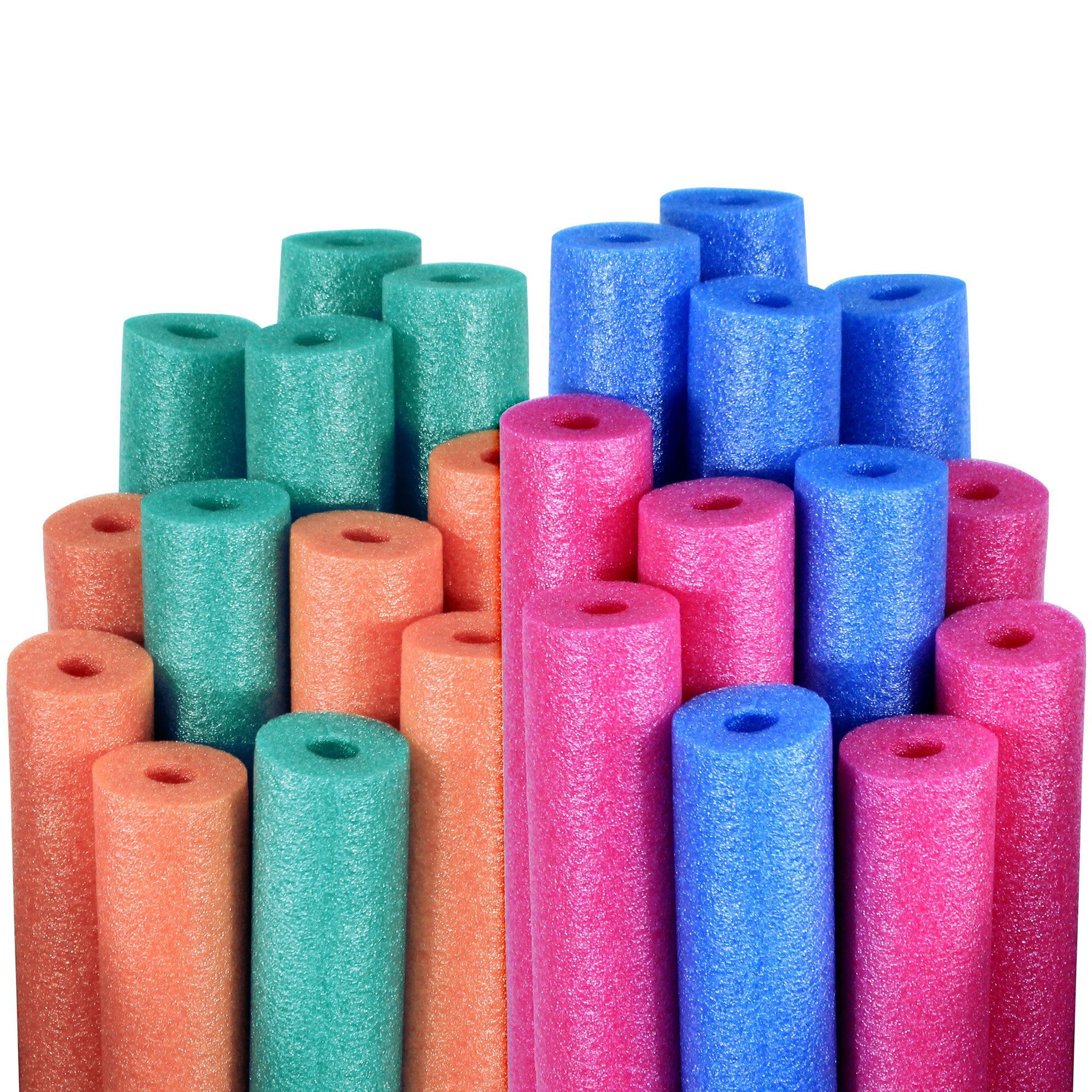 Robelle Water Noodles Blue Pink Teal And Orange 24 Pack Blue Pink Teal And Orange 24 Pack Mult Swimming Pool Noodles Swimming Pool Water Water Noodles