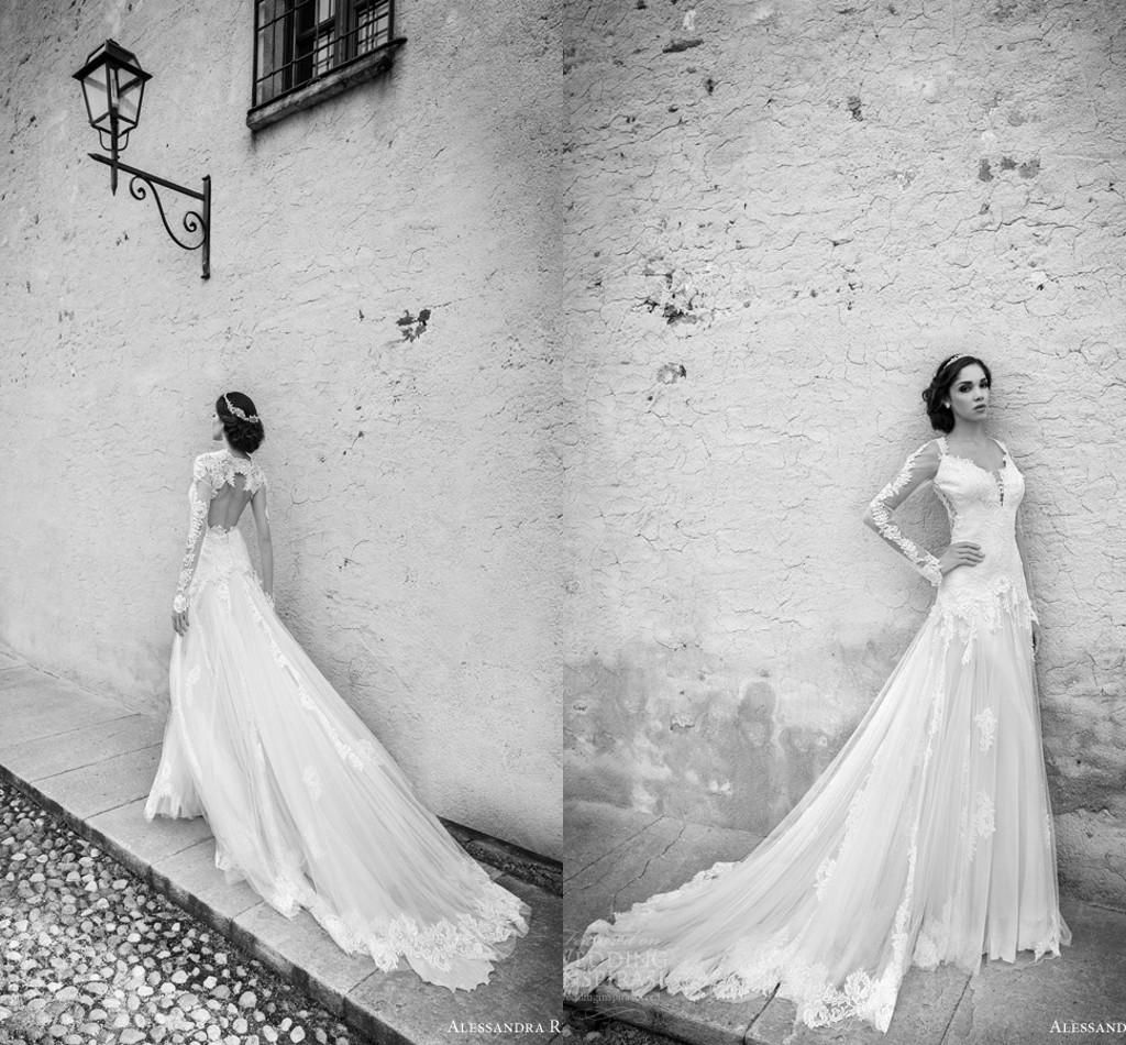 Free shipping, $206.92/Piece:buy wholesale 2015 Spring/Fall Sheer Long Sleeves Wedding Dresses Vintage Lace Applique Open Back Garden Bridal Gowns Sexy Tulle Court Train Wedding Gowns from DHgate.com,get worldwide delivery and buyer protection service.