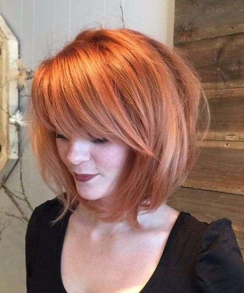 Messy Lob with Lightened Ends haircuts for round faces