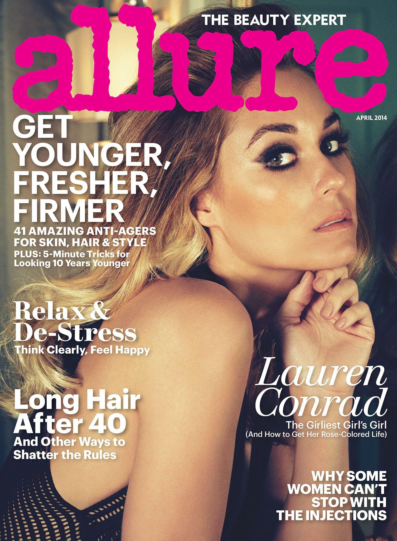 Allure April 2014 Covergirl, Lauren conrad, Beauty advice