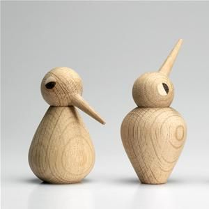 BIRD was designed by architect Kristian Vedel (1923 – 2003) in 1959.   Vedel designed an entire family of BIRDS – children, parents and grandparents. The birds come in their original packaging design and are handmade in Denmark in natural or smoked oak, that has been aged 15 years.