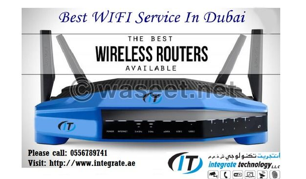 Wifi network cabling it technician in green community village dubai wireless router greentooth Images