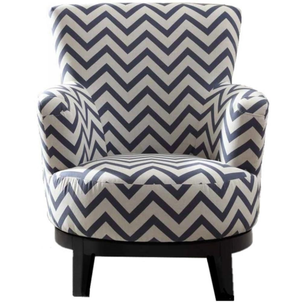 Swell Nathaniel Home Swivel Multi Color Accent Chair With Chevron Ocoug Best Dining Table And Chair Ideas Images Ocougorg