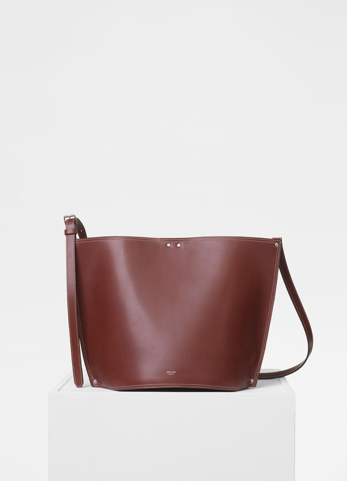 5c7035fa40fe Small Studs Bucket in satinated natural calfskin - Handbags