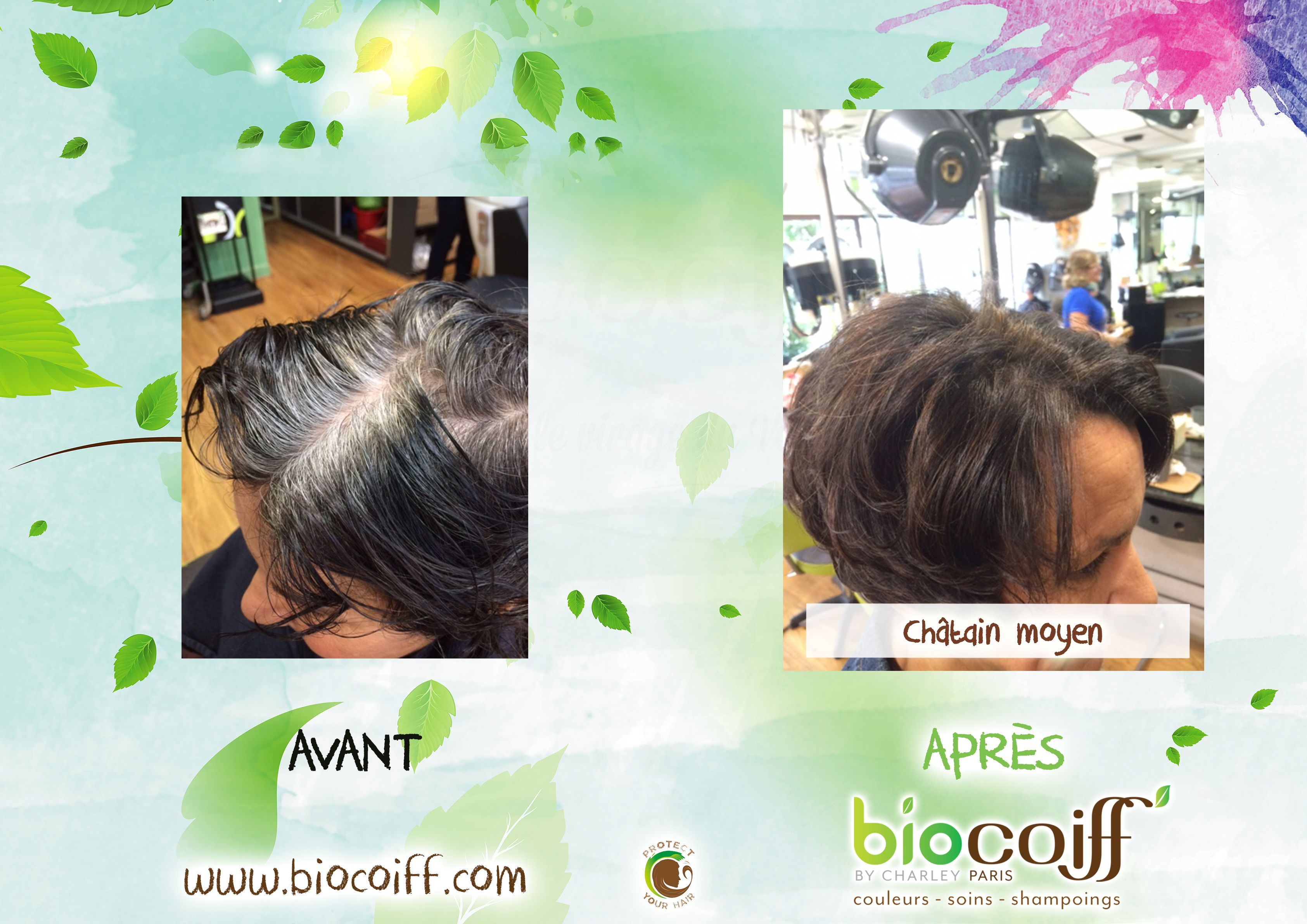 Chatain Moyen Par Notre Salon Du 13eme Arrondissement Chatain Naturel Plantes Coloration Coiffeur Bio Chatains Shampoing