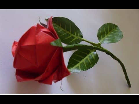 HD Origami Rose Tutorial - YouTube