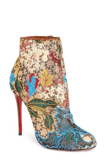 Christian Louboutin Women's Miss Tennis Floral Lace Bootie MdSY9k6C5E